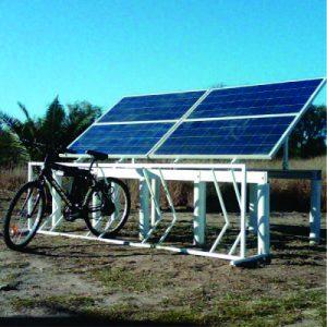 Estacion de Craga Solar para Bicicletas