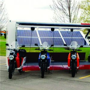 Estacion de Craga Solar para Motocicletas