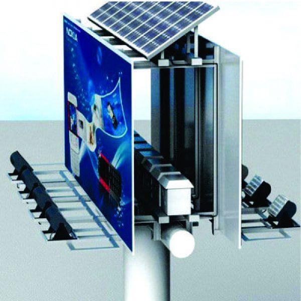Panel Publicitario Solar Elevado